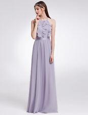 Ever-Pretty UK Halter Ruffled Long Party Dresses Bridesmaid Wedding Dress 07201 Dusty Lilac 20