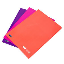 3 A4 Paper Notebooks Hardback 160 Page Lined Writing Pink Purple Peach Book Pads