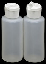 Plastic Bottle w/White Turret Lid, 2-oz., 12-Pack, New