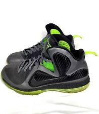 Nike Lebron 9 Dunkman  Size 12 Grey Black Green Shoes Sneakers