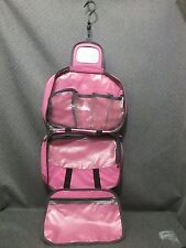 RICARDO OF BEVERLY HILLS TOILETRY/COSMETIC/BATHROOM CARRY ON LUGGAGE BAG PINK