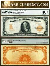 1907 $10 Gold Certificate FR-1171 PMG Graded EF40 EPQ