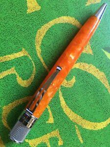Retro51 Tornado Orange Resin Open Cap Rollerball Pen