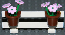 ☀️NEW LEGO City Fence Light Pink Flowers Belville House Garden Girl Minifigure