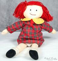 "Eden Madeline Doll Red Plaid Dress 14"" Soft Doll Stuffed Plush Toy"