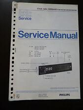 Original Service Manual  Philips Clock Radio 90rs440