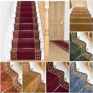 runrug Long Stair Carpet Runner Heavy Duty Washable Modern Bordered Cheops
