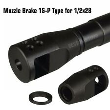 Compact High Performance Muzzle Brake 1/2x28 With Crush Washer .223