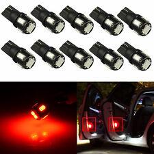 JDM ASTAR 10x Pure Red T10 5050 6-SMD LED Light Bulb 194 168 2825 175 W5W 192