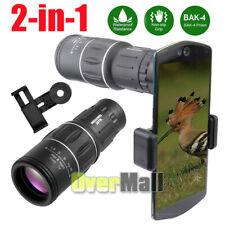 16x52 Monocular Telescope Lens Camera Hd Scope Hunting Cell Phone Holder Mount