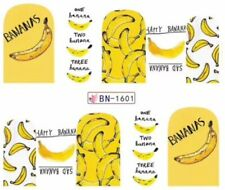 Nail Art Stickers Water Decals Transfers Bananas Fruit (BN1601)