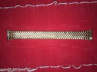17mm Speidel Watch Band Stainless Steel Gold Color Stretch Removable Links New