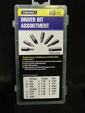 80 Piece Driver Drill Bit Kit Phillips Torque Hex Slotted Tool Case Set Screw