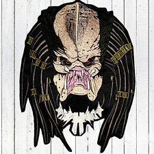 "Predator Face Embroidered Patch Big for Back Head No Helmet AVP Dutch 10"" Aliens"