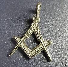 MASSONERIA argento 925 squadra e compasso Masonry pendant square and compass