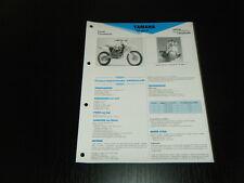 FICHE TECHNIQUE MOTO RMT YAMAHA YZ 400 F (RMT3)