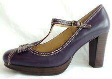 Stage of Playlord Womens Ladies Purple Leather Mary Jane Shoes Size 5/38 New