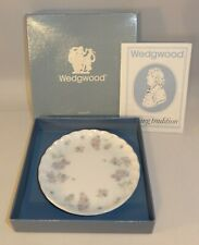 """Wedgwood April Flowers  4"""" Round Pin Trinket Butter Dish Coaster Boxed Excellent"""