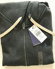 Felpa Uomo Ralph Lauren in cotone Super Soft Bianco scuro Tg XXL
