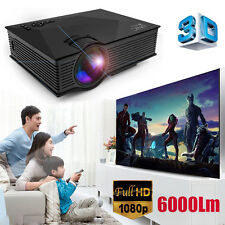 6000 Lumens UNIC UC46 Full HD 3D Heimkino Beamer WiFI Theater Cinema Projektor