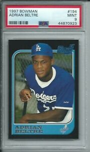 1997 BOWMAN BASEBALL #194 ADRIAN BELTRE LOS ANGELES DODGERS ROOKIE RC PSA 9 MINT