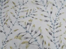 Harlequin Curtain Fabric 'CHACONIA' 3.4 METRES (340cm) Lagoon/Linden  100% Linen