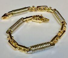 """10k  Solid Gold Handmade Fashion Link Men's Bracelet 9""""  8 MM  45 grams"""