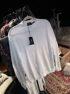 hugo boss long sleeve white shirt mens size medium