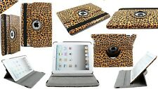 LOT OF 8  - Apple iPad 3/4 iPad 2nd gen 360 Degree Smart Cover Magnetic Leopard
