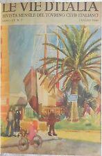 LE VIE D'ITALIA RIVISTA MENSILE DEL TOURING CLUB ITALIANO 1949 VOLUME RILEGATO