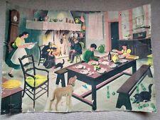 More details for vintage french school poster helene poirie images de la vie #6 family in house