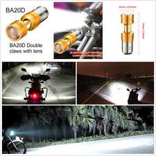 1 Pcs BA20D COB LED White 3500LM Motorcycle Motorbike Hi/Lo Beam Headlight Bulbs