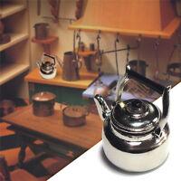 Mini Kitchen Metal Tea Kettle Model Miniature DIY Dollhouse Home Decor 1:12Scale