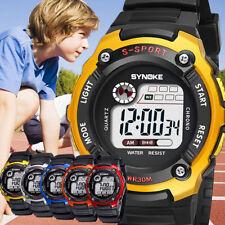 Kids Child Boy Girl Waterproof Multifunction Sports Electronic Watch Watches USA