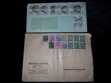 Alliierte Besetzung / Deutsche Post / SBZ - 2x  Briefe, R-Briefe, Einschreiben