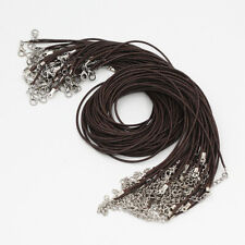 New Wholesale Lots 20Pcs Dark Brown 2mm Leather Cord Rope Necklace Chain