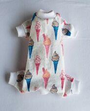 New listing Ice Cream Cones Flannel Pajamas Pj's Dog Puppy Pet Apparel Clothes Xxxs - Large