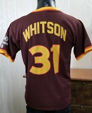 24858d06 MLB San Diego Padres Baseball Retro SGA Jersey Ed Whitson #31 Brown Gold *Sz