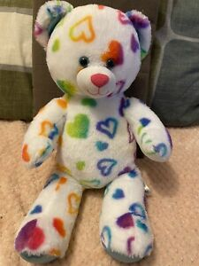 Build a Bear Workshop Rainbow heart Teddy