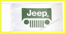 JEEP FLAG BANNER  compass liberty cherokee wrangler 5 X 2.45 FT 150 X 75 CM