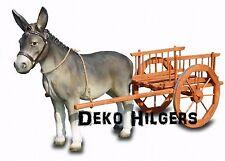 Esel Mit Wagen Figur Groß Lebensgroß Heu Gartenfigur Garten Deko Bauernhof 1