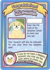 Webkinz DOG (Golden Retriever) SERIES 1 PET ADOPTION CODE Trading Cards UNUSED