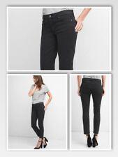 Gap True Skinny jeans Mid Rise Steip-hem SIZE 00 PETITE (24) black 909629