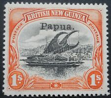 More details for papua 1907 one shilling small opt sg 44 mint