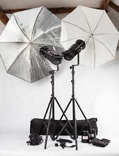 Bowens GEMINI GM500C. 2 HEAD KIT FLASH DA STUDIO, basamenti, ombrelli, Trigger, Case +