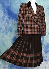 PENDLETON CHRiSTMAS TARTAN PLAiD WOOL DRESS JACKET BLAZER LONG SKiRT SUiT 30/w