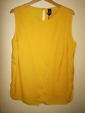 GOK TOP yellow essential sleeveless shell TOP 18 FLATTERING NEW