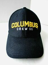 COLUMBUS CREW SC ADIDAS SOCCER MLS BLACK ADJUSTABLE CAP HAT ~ NEW