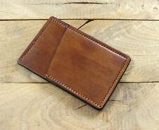 Handmade Slim Minimalist leather wallet front pocket wallet credit card holder