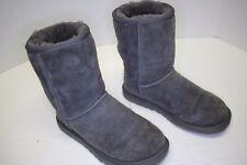 Australia UGG Classic Short Boots Sheepskin Suede 5825 Grey Boots Sz 6 Rip Boot